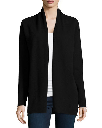 Neiman Marcus Cashmere Collection Cashmere Draped Cardigan