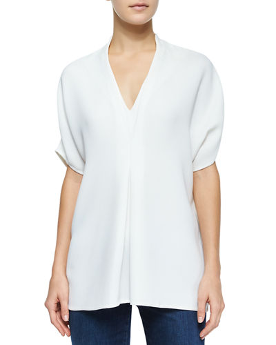 Vince Short-Sleeve Double-V Top
