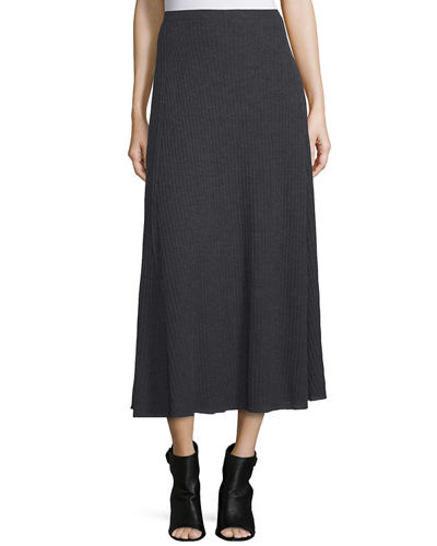 Eileen Fisher Fisher Project Merino Pleated Long Skirt