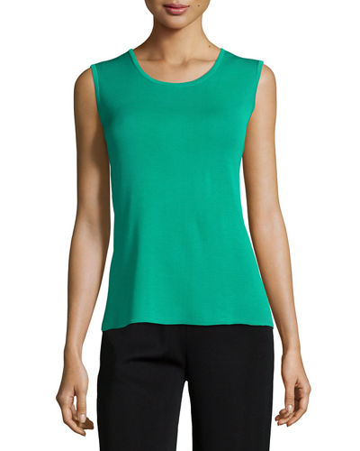 Scoop-Neck Knit Tank, Petite
