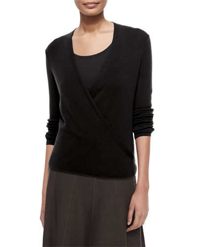 NIC+ZOE 4-Way Linen-Blend Knit Cardigan
