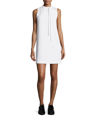 Theory Nurita Sleeveless Tie-Neck Dress