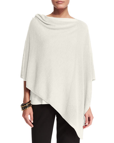 Washable Wool-Stitch Poncho