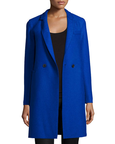 Harris Wharf London Double-Faced Two-Button Wool Coat