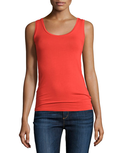Soft Touch Scoop-Neck Stretch Tank
