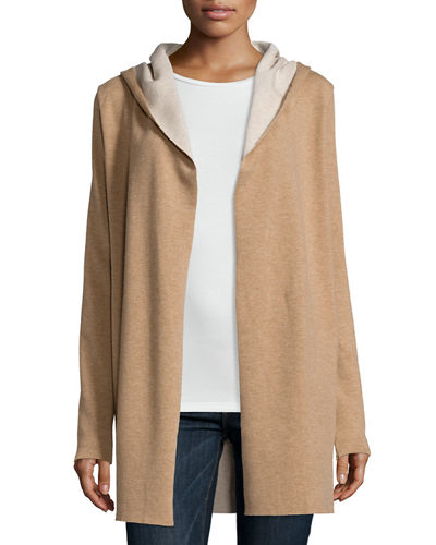 Majestic Paris for Neiman Marcus Hooded Wool Cardigan