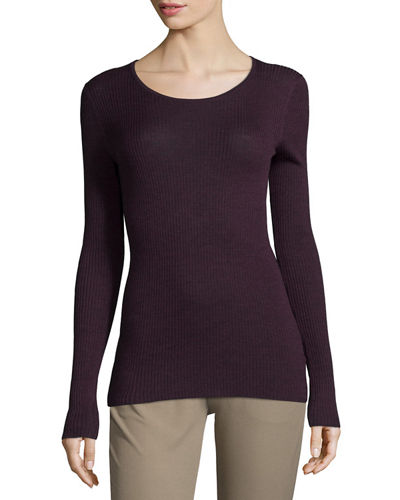Theory Mirzi Long-Sleeve Ribbed Sweater