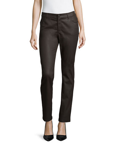 Lafayette 148 New York Wax Denim Curvy Slim-Leg