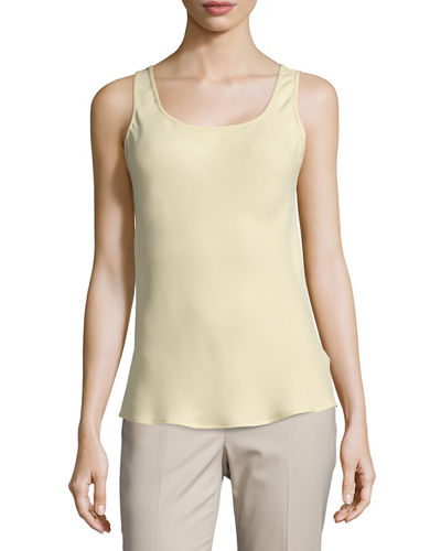 Lafayette 148 New York Scoop-Neck Bias-Cut Tank
