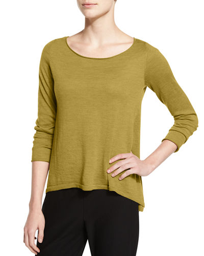 Eileen Fisher Fine Merino Boxy Top