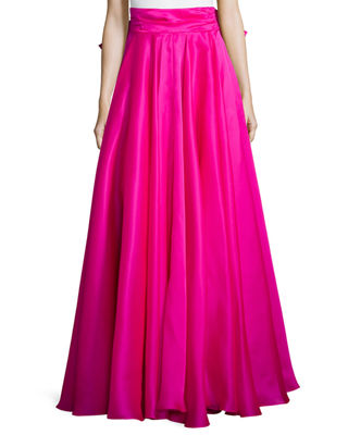 Long Silk Maxi Skirt - Dress Ala