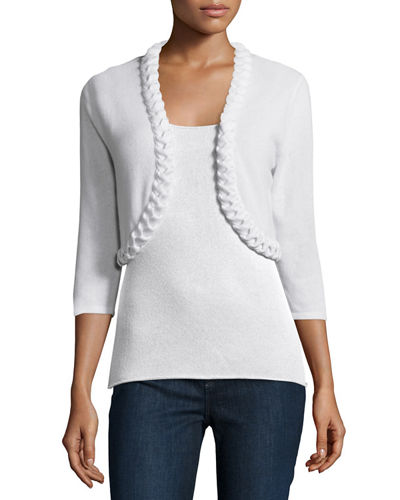 Cashmere Braided Shrug