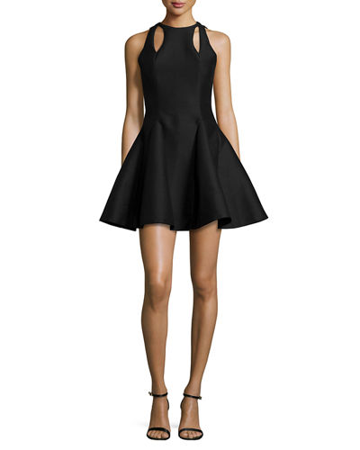 Halston Heritage Sleeveless Fit & Flare Dress