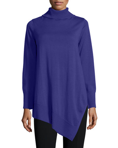 Eileen Fisher Long-Sleeve Merino Turtleneck Tunic