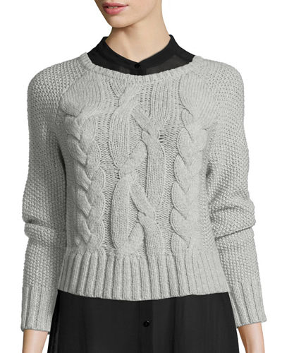 Fisher Project Cable-Knit Crop Top