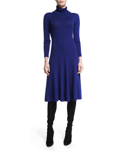 Lafayette 148 New York Long-Sleeve Merino Turtleneck Dress