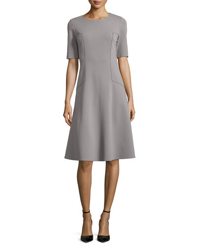 Corey Half-Sleeve Fit & Flare Dress