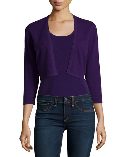 Neiman Marcus Cashmere Collection Modern Cashmere Shrug