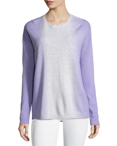 Vince Dip-Dye Wool/Cashmere Crewneck Sweater