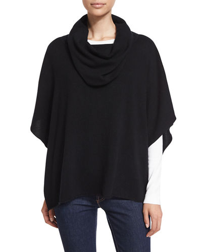 Neiman Marcus Cashmere Collection Cowl-Neck Cashmere Poncho