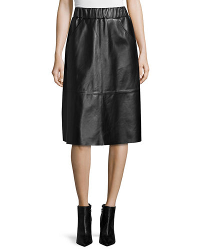 Bagatelle Full Midi Leather Skirt