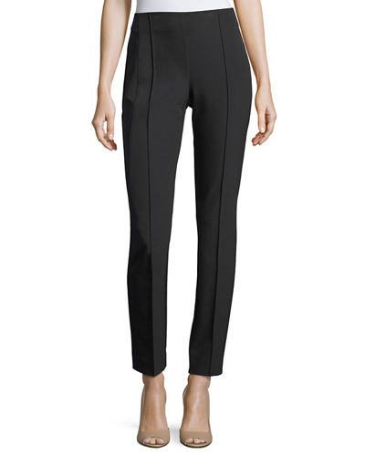 City Slim Pintucked Pants, Plus Size