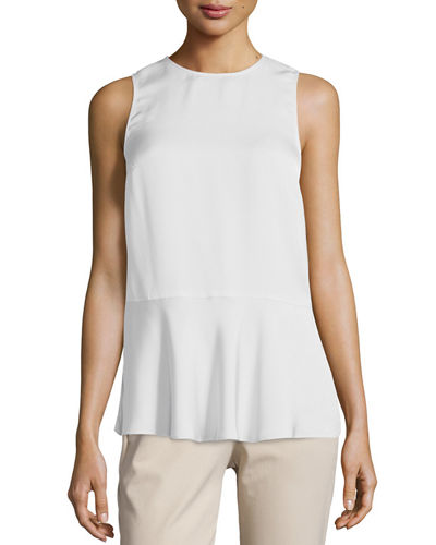 Theory Nicella Modern Georgette Solid Top