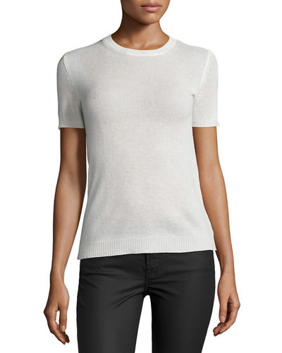 Theory Tolleree B Short-Sleeve Cashmere Sweater