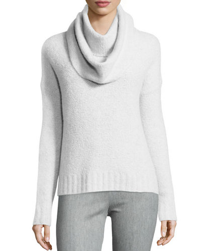 Lisa Todd Crewneck Sweater w/ Detachable Scarf