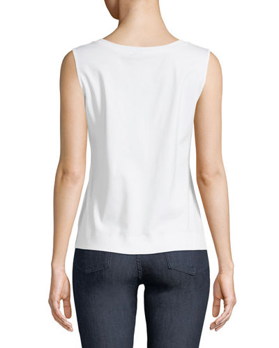 Basic Scoop-Neck Cotton Tank