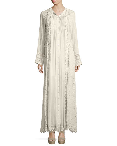 Johnny Was Collection Long-Sleeve Vintage Prairie Maxi Dress