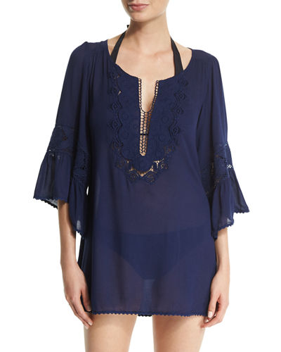 Breakaway Embroidered Coverup Tunic