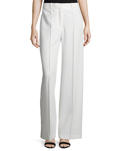 Hayden High-Waist Italian Cady Trousers