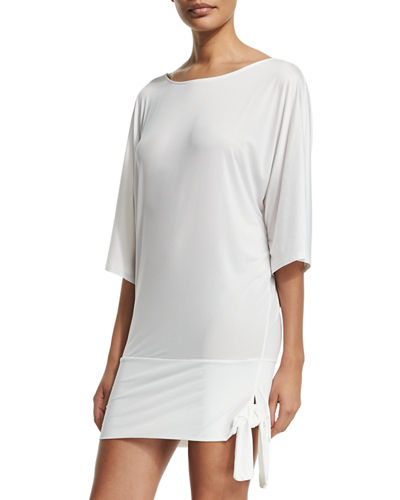 MICHAEL Michael Kors Side-Tie Coverup Tunic