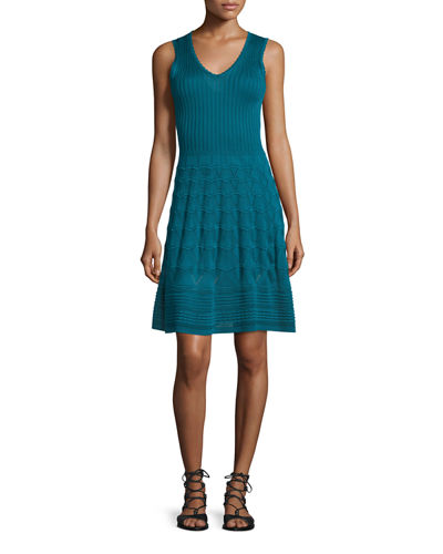 M Missoni V-Neck Knit Tank Dress