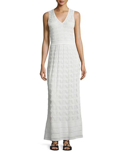 M Missoni Sleeveless T-Strap Back Maxi Dress