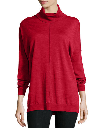 Eileen Fisher Fine Merino Turtleneck Box Top