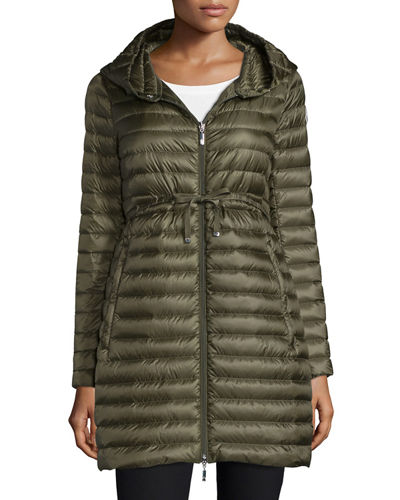 Moncler Barbel Hooded Down-Fill Knee-Length Jacket