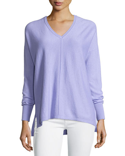 Lilly Pulitzer Allessandra V-Neck High-Low Cashmere Tunic