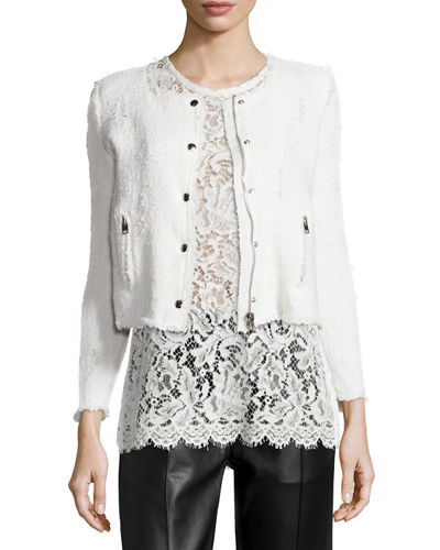 Agnette Cropped Boucle Jacket