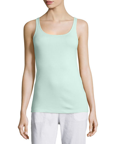 Scoop-Neck Long Slim Tank