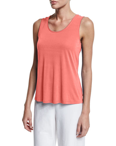 Silk-Jersey Tank Top, Plus Size