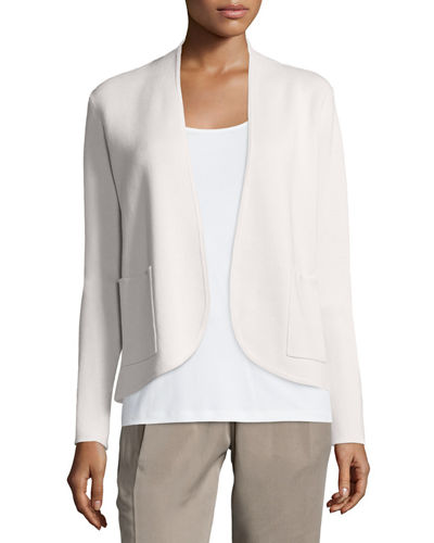 Eileen Fisher Silk Organic Cotton Interlock Jacket, Petite