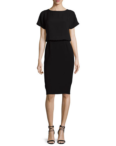 Gwen Short-Sleeve Popover Dress