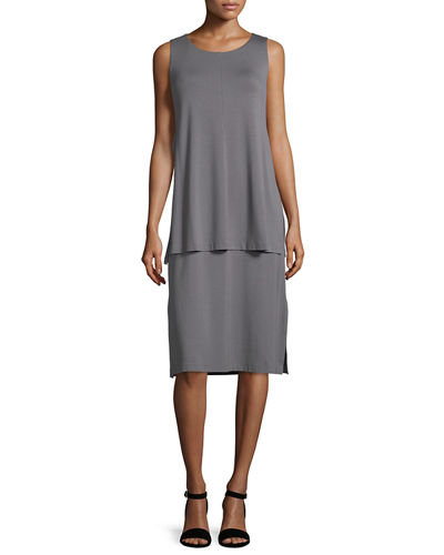 Lafayette 148 New York Layered Tank Dress