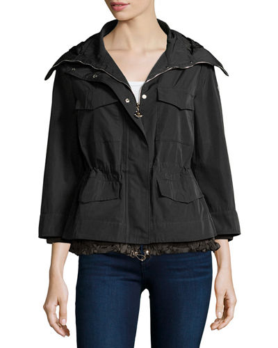 Moncler Paquerette 3/4-Sleeve Skirted Jacket