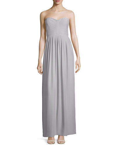 Parker Black Strapless Sweetheart-Neck Gown