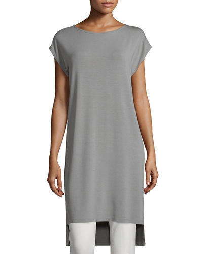 Eileen Fisher Short-Sleeve Jersey Tunic/Dress