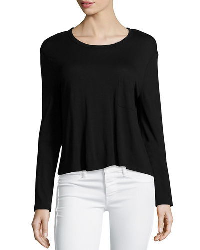 Classic Cropped Long-Sleeve Tee