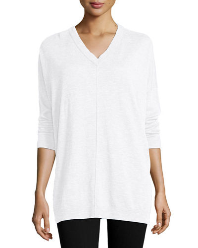 Eileen Fisher Classic V-Neck Box Top